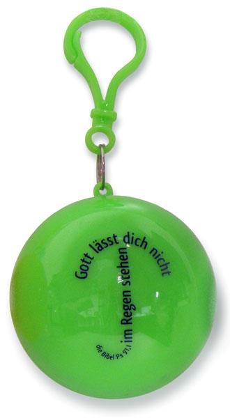 Regenponcho in Grün