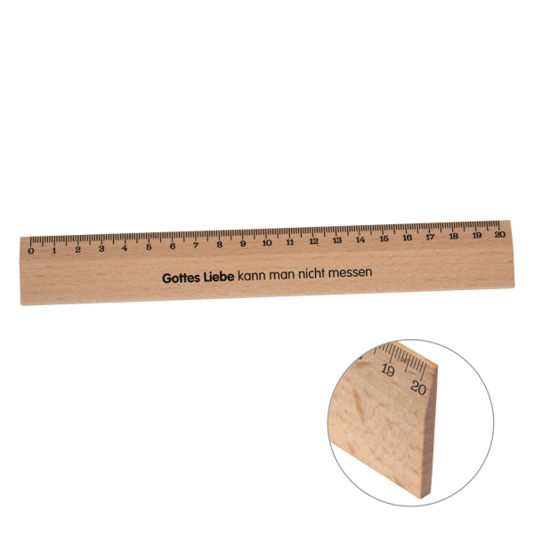 Holzlineal - 20 cm