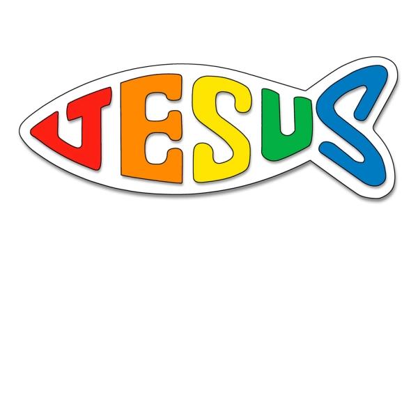 Aufkleber - Jesus