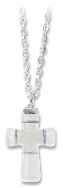 Halskette Kreuz aus Glas