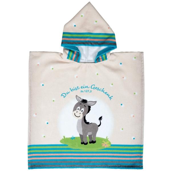 Badeponcho für Kinder - Esel Felix