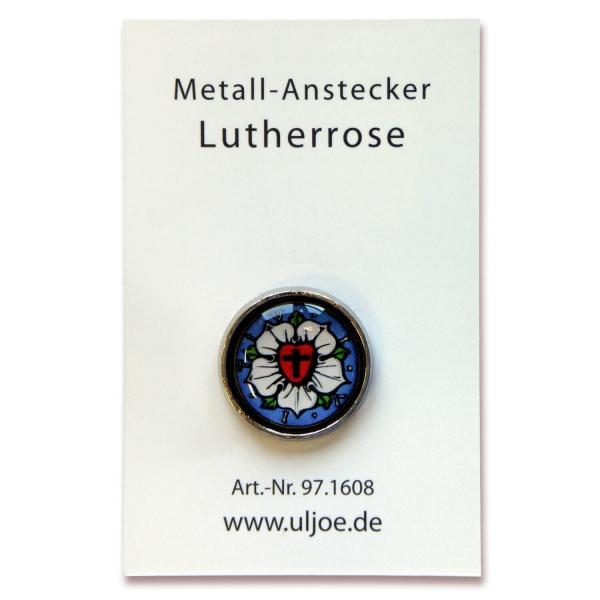 Anstecker - Lutherrose
