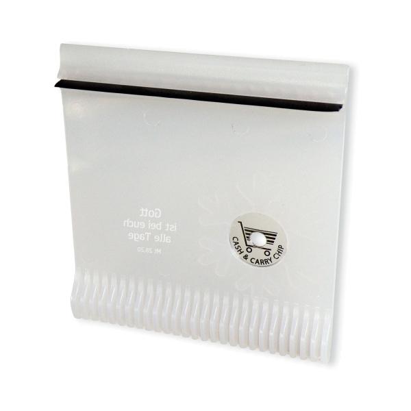 Eiskratzer mit Einkaufswagen-Chip
