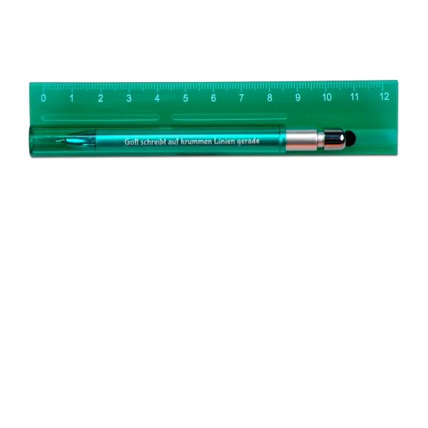 Lineal mit Kugelschreiber