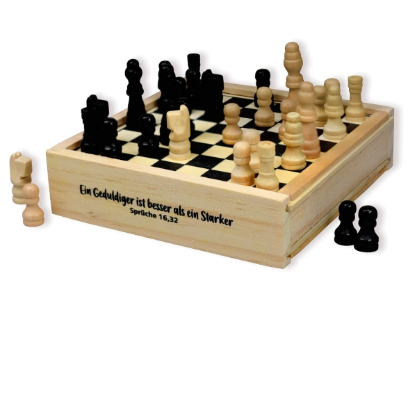 Spiele-Holzbox