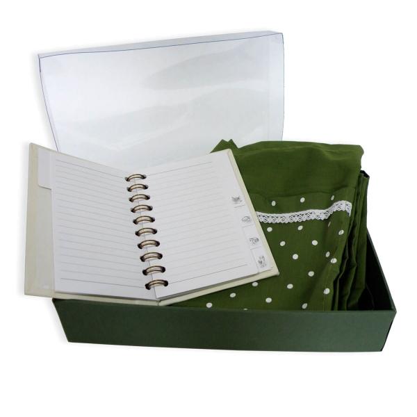 Geschenkset - Rezeptbuch & Schürze
