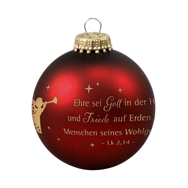 Christbaumkugel - Ehre sei Gott in der Höhe ...