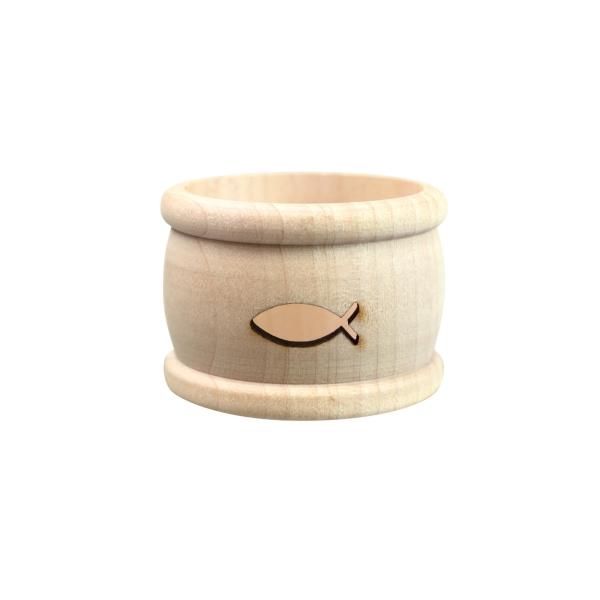 Serviettenring aus Holz - Ichthys