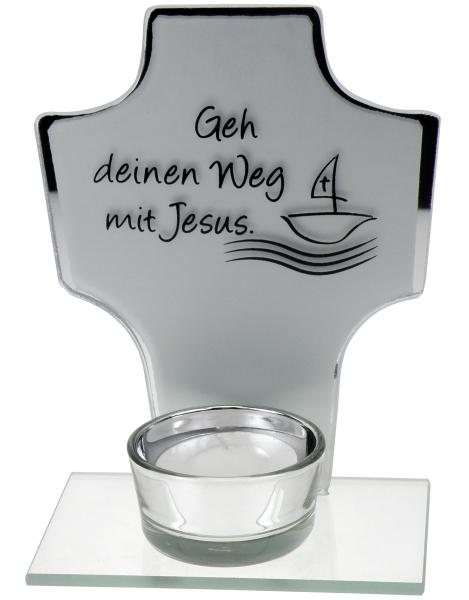 Teelichthalter - Kreuz