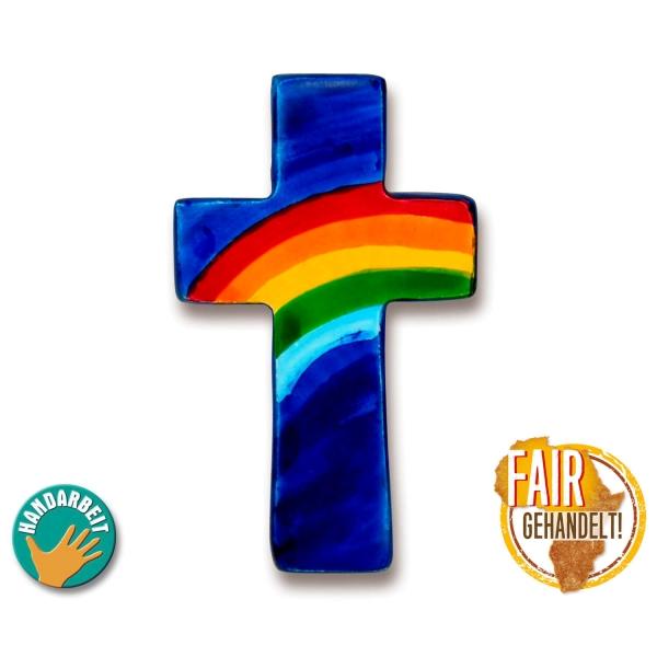 Taschenkreuz - Regenbogen