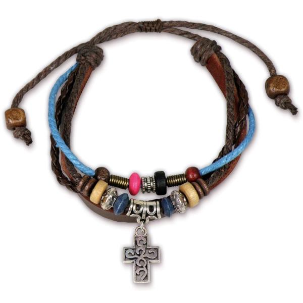 Lederarmband - Kreuz