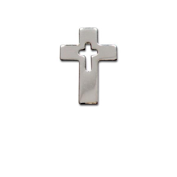 Metall-Anstecker Kreuz