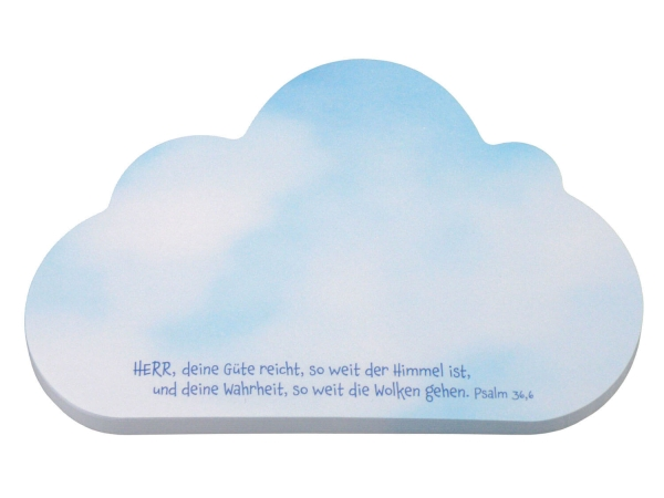 Haftnotizblock - Wolke