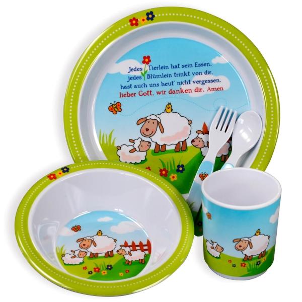 Kinder-Essgeschirr-Set - Schäfchen