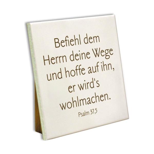 Keramikfliese - Befiehl dem Herrn... 10x10 cm