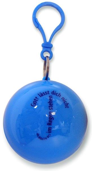 Regenponcho in Blau