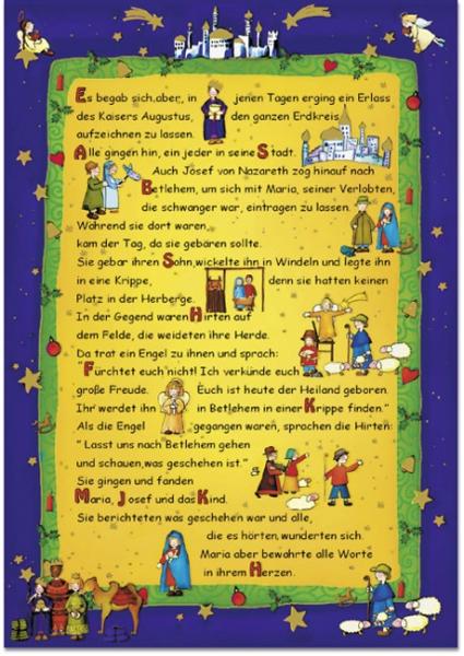 Weihnachtskarte - Weihnachtgeschichte