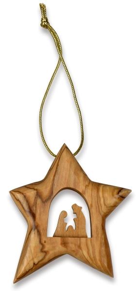 Baumschmuck - Stern mit Krippe