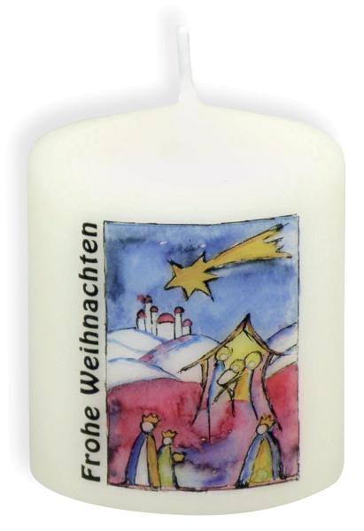 Kerze - Frohe Weihnachten