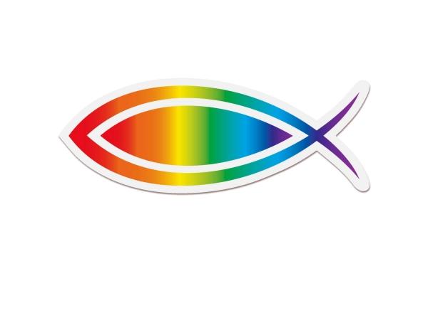 Aufkleber Ichthys/Regenbogenfisch