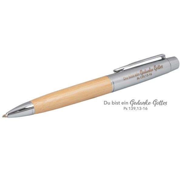 Kugelschreiber - Bambus, im Etui