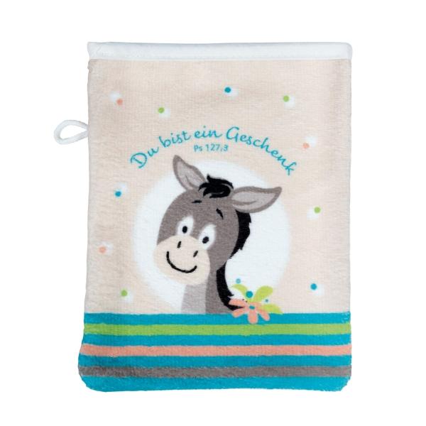 Waschhandschuh für Kinder - Esel Felix