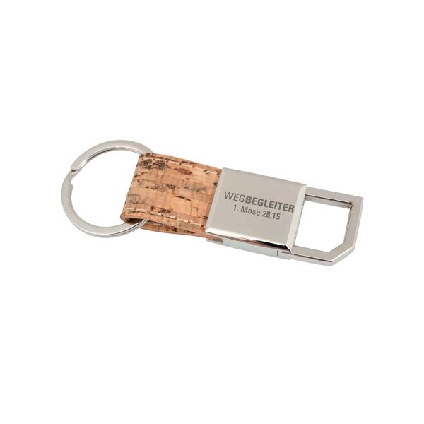 Schlüsselanhänger mit Kork - Wegbegleiter
