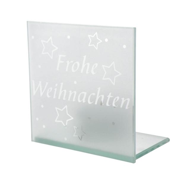 Glasständer - Frohe Weihnachten